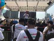Menaker MHD Rayakan May Day Bersama Buruh di Senayan