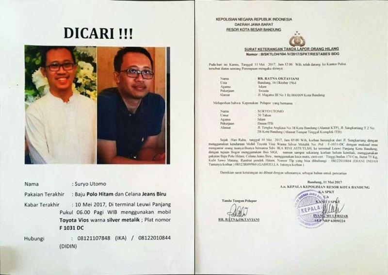 Polisi Pastikan Mayat Ditemukan di Cianjur Suryo Utomo Dosen ITB yang Hilang