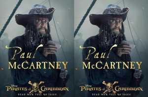 FOTO: Keren, Paul McCartney Jadi Perompak ala Pirates of Carribbean