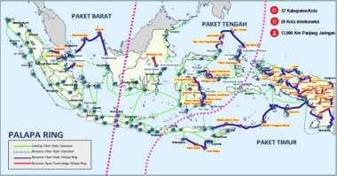 Proyek Palapa Ring Paket Barat Target Rampung di 2018