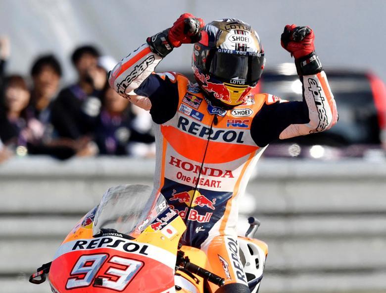 Rossi Terjatuh di Le Mans, Marquez: Saya Sangat Bersyukur