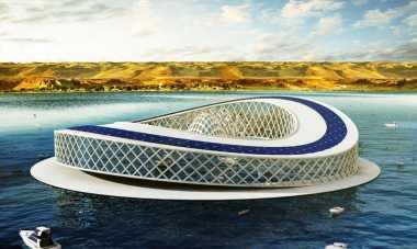 \Canggih! Arsitek Rancang Pusat Penelitian Bertenaga Surya Berbentuk Amfibi\