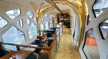 Mewah, Kereta Shiki-Shima Punya Dekorasi Khusus di Setiap Gerbong