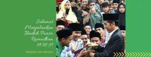 Presiden Jokowi: Marhaban Ya Ramadan