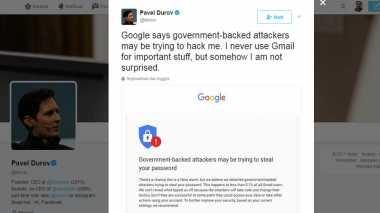Waduh, Gmail CEO Telegram Diretas Pemerintah