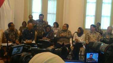 \Buka Puasa di Istana Bogor, Sri Mulyani hingga Rini Soemarno Gunakan Kerudung\