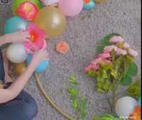 Pesta Kecil-kecilan, Yuk Bikin Sendiri Dekorasi Bunga Balon seperti Ini