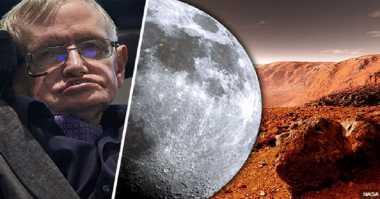 Sebelum Capai Mars, Stephen Hawking: Manusia Bisa Berbasis di Bulan