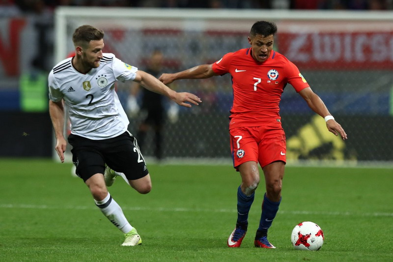 Duel Ketat Jerman vs Cile di Kazan Berakhir Imbang 1-1