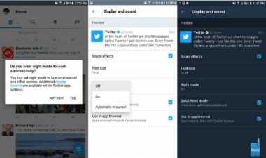 Mode Malam Hari Hadir di Pembaruan Twitter Android