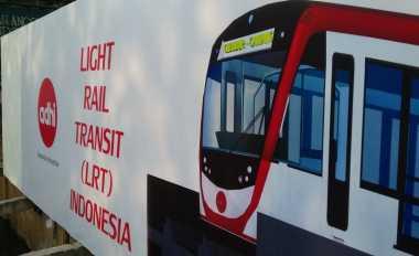 \Terhambat Pemudik, Pembangunan LRT Dikebut Malam Hari   \