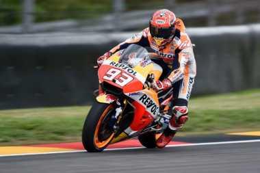 Juarai GP Jerman, Ini Cuplikan Slow Motion Marquez di Lintasan