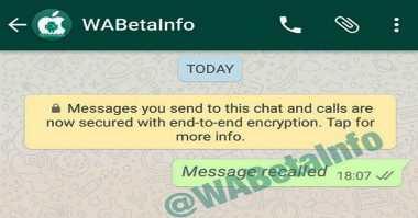 Asyik, Fitur Tarik Pesan Segera Tiba di WhatsApp