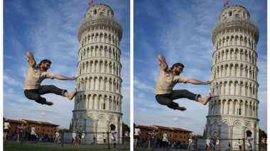 Unik! Ini Foto-Foto Nyeleneh di Menara Pisa