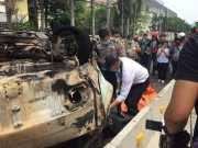 Innalillahi..Angkot Terbakar di Pluit, Sopir Ditemukan Tewas Terpanggang