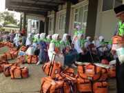 Calon Jamaah Haji Kloter Satu Embarkasih Medan Mulai Masuk Asrama
