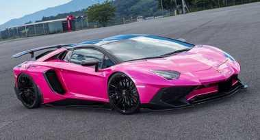 Cantik! Lamborghini Aventador Pink dari Jepang, Gahar tapi Girly