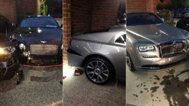Nekat! Pria Ini Tabrak Mobil Bentley & Rolls-Royce Baru, Kerugian Rp6,6 M
