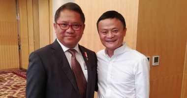 Menkominfo Rudiantara Temui Bos Alibaba Jack Ma, Ada Apa?