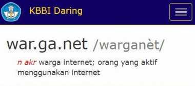 Jempol! Kata 'Warganet' dan 'Netizen' Masuk Daftar KBBI