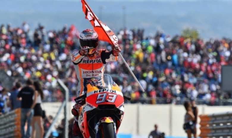 Juara GP Aragon, Marquez Akui  Sempat Kesulitan