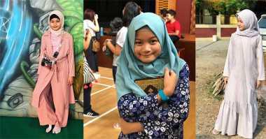 5 Gaya Modis Anak Arie Untung dan Fenita Arie Berhijab di Usia Dini