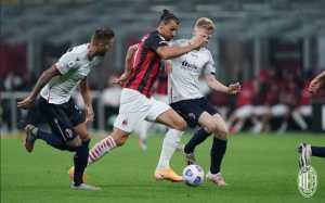 Zlatan Ibrahimovic Bawa AC Milan Ungguli Bologna di Babak Pertama