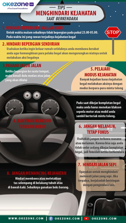 Tips Menghindari Kejahatan saat Berkendara -