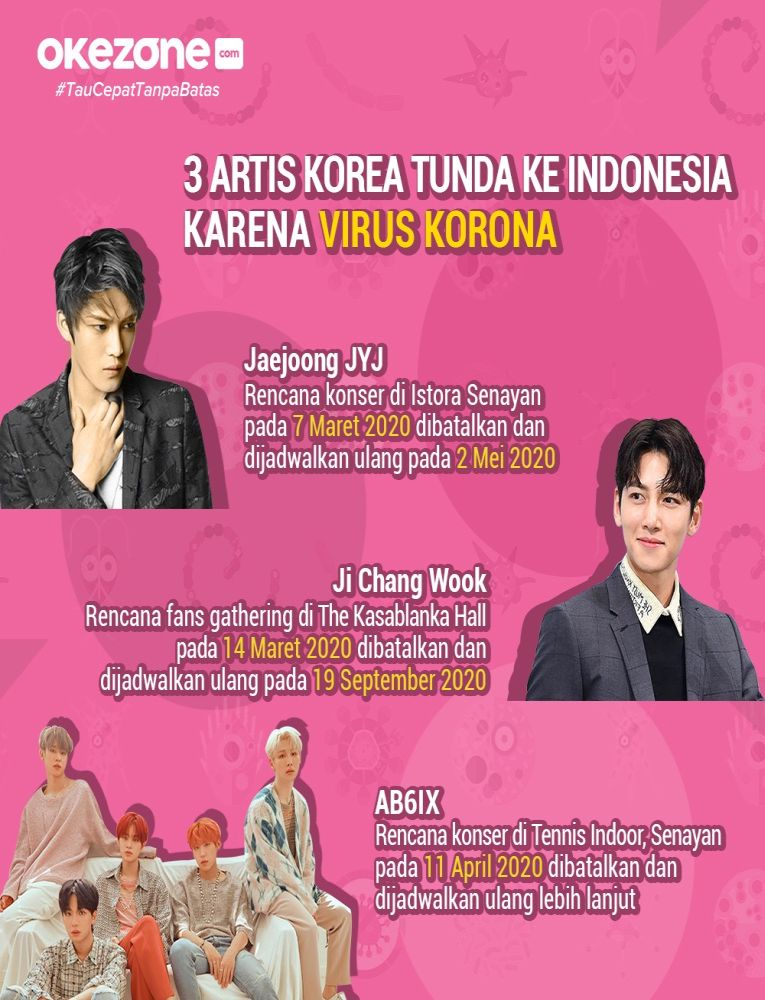 3 Artis Korea Tunda ke Indonesia -