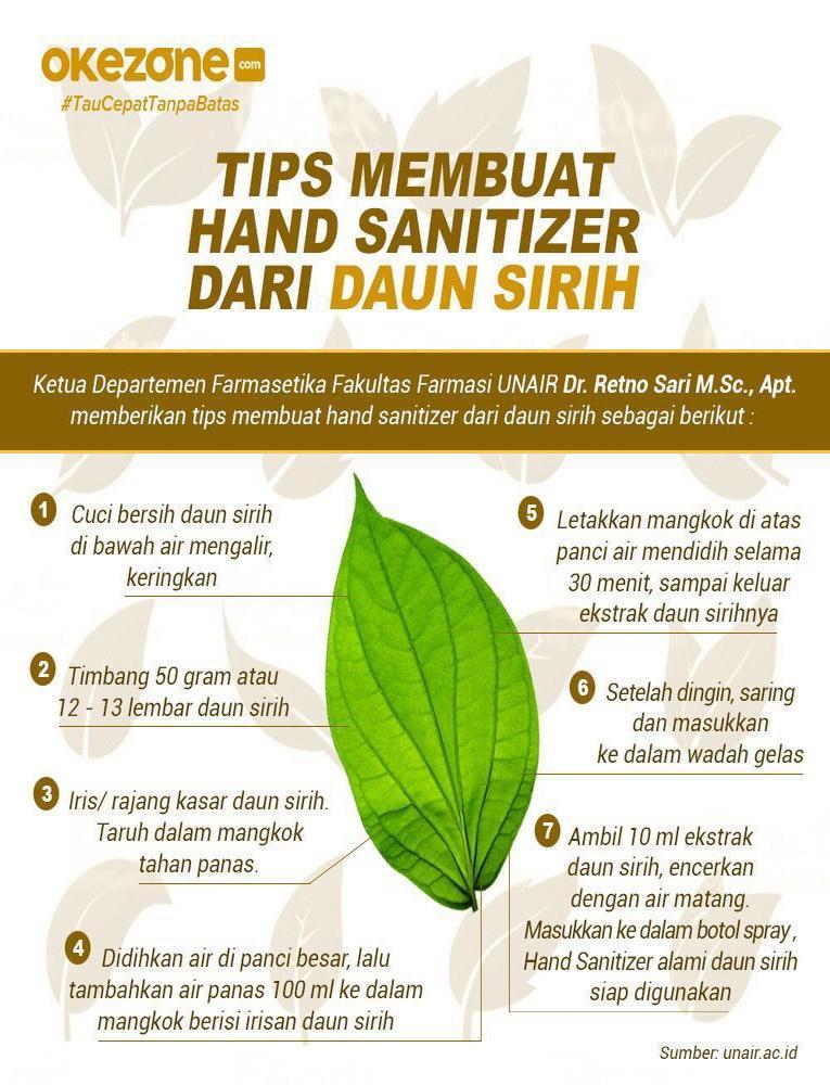 Tips Membuat Hand Sanitizer Dari Daun Sirih -
