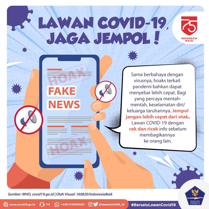 Lawan Covid-19, Jaga Jempol! -