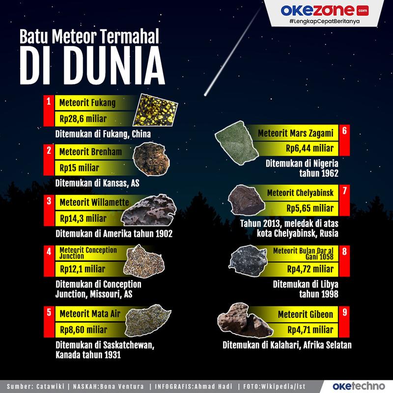 Batu Meteor Termahal di Dunia -