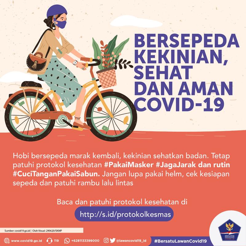 Bersepeda Kekinian, Sehat dan Aman Covid-19 -