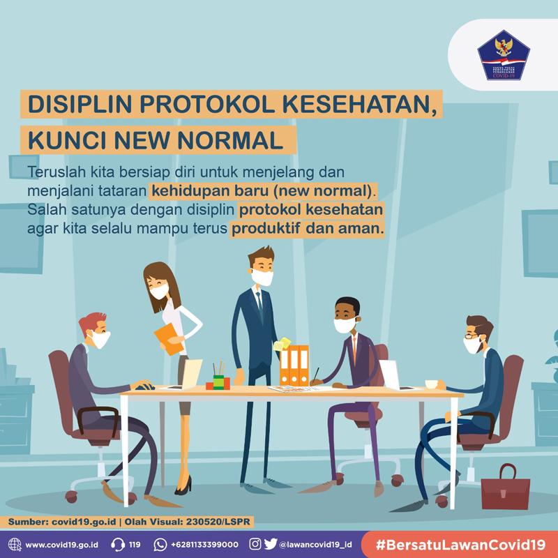 Disiplin Protokol Kesehatan, Kunci New Normal -