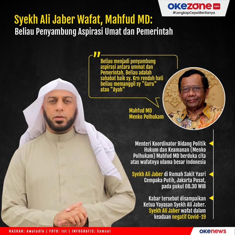 Syekh Ali Jaber Wafat, Mahfud MD: Beliau Penyambung Aspirasi Umat dan Pemerintah -