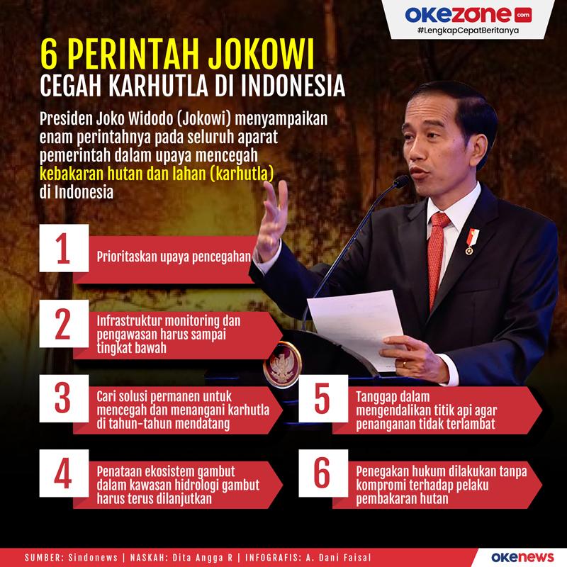 6 Perintah Jokowi Cegah Karhutla di Indonesia -