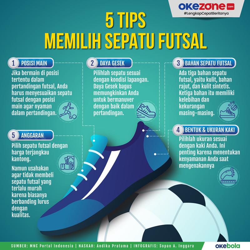 5 Tips Memilih Sepatu Futsal -