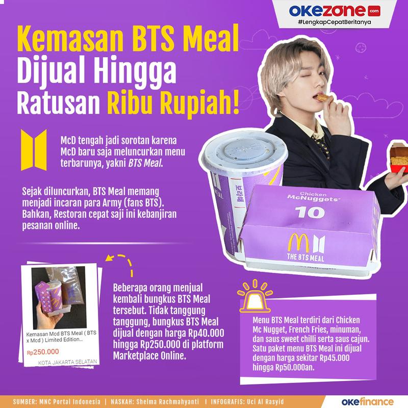 Kemasan BTS Meal Dijual Hingga Ratusan Ribu Rupiah -
