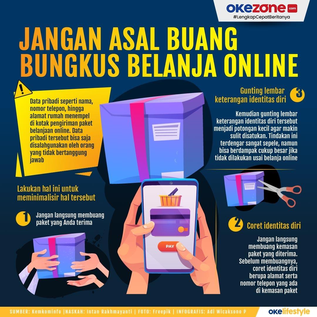 Jangan Asal Buang Bungkus Belanja Online -