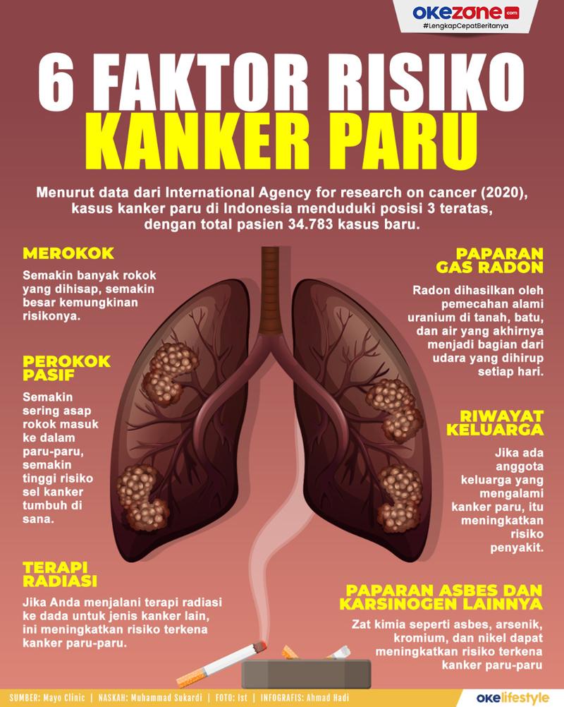 6 Faktor Risiko Kanker Paru -