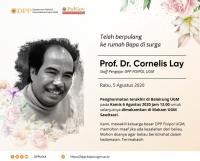 Cornelis Lay Meninggal Dunia, UGM Kehilangan Sosok Guru Besar Fisipol