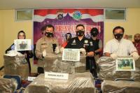 Polisi Gagalkan 110 Kilogram Ganja Siap Edar ke Jakarta
