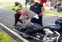 Razia Masker di Tangerang, Petugas Amankan Moge Harley-Davidson Tanpa Surat