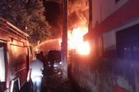 Gudang Tabung Gas di Pematang Siantar Terbakar