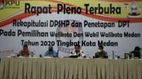 Pilkada Medan 2020, KPU Tetapkan DPT 1.601.001 Orang