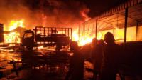 Gudang Alat Tambak Kebakaran, Diduga karena Anak-Anak Bakar Sampah