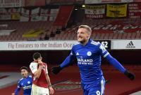 Leicester Kalahkah Arsenal, Pelindung Kaki Milik Vardy Bikin Fan Gagal Fokus