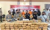 Polisi Gagalkan Peredaran 135 Kg Ganja di Sumbar, 2 Pelaku Ditangkap