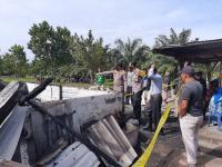 Rumah Semi Permanen Terbakar, 1 Keluarga Tewas Terpanggang