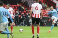 Man City Unggul Tipis atas Sheffield di Babak Pertama